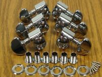 NEW Grover Rotomatic Chrome TUNERS 3x3 for Gibson Les Paul Full Size TK-7900-010