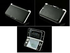 Black Carbon Fiber Vinyl Decal Skin Sticker for Nintendo 3DS XL/LL