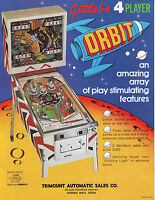 GOTTLIEB ORBIT ORIGINAL NOS MINT PINBALL MACHINE PROMO SALES FLYER 1972