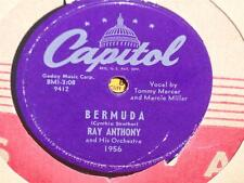 """RAY ANTHONY Bermuda/ Broken Hearted 10"""" 78 Capitol 1956 shellac Tommy Mercer"""