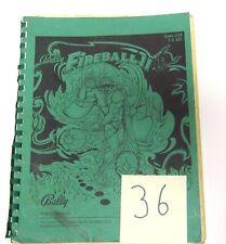 Bally Fireball II - 36 Pages pinball machine manual