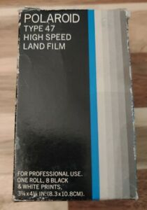 Vintage Polaroid Type 47 Land Roll Film High Speed Exp. 1981 Collectible Piece