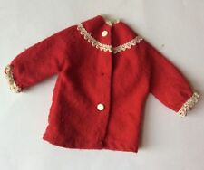 Sindy doll 1965 Frosty Nights 13S62 Red White Pyjama Top vintage dolls clothes