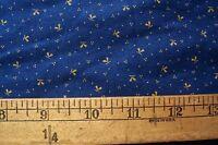 Antique VTG 1800's 19c Cotton Fabric Blue EARLY PRIMITIVE DOLLS DRESS QUILT