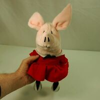 """8"""" Olivia The Pig Plush By GUND Red Dress With Striped Stockings Classroom"""
