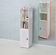 White Bathroom Shelf Cabinet Cupboard Bedroom Storage Unit Standing With Drawer