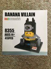 Hsanhe Mini Series Banana Villain Kit 413 Pieces Minions Building Bricks