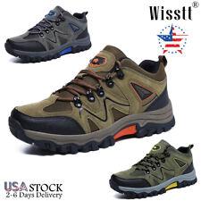Wisstt Mens Hiking Shoes Outdoor Trekking Sneakers Waterproof Walking Work Boots