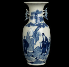 Cina 20. JH. Qing-a Chinese blue & white porcelain vaso-chinois vaso cinese