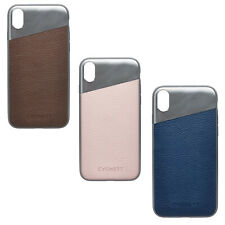 Cygnett 360 Wrap Around Aluminum Leather Protective Case Cover For iPhone X & Xs
