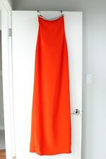 GUCCI Swarovski Crystal Studded Strapless Gown Coral Red Size 38