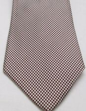 Vintage Men's Neck Tie Resilo Red Black White Plaid All Silk New
