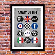 A Way of Life - Northern Soul - Mods Art Print - 2 Tone Ska - A3/A4 Size Poster