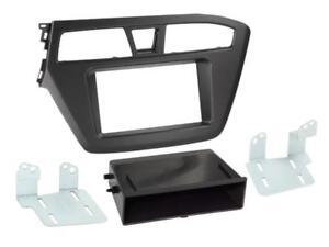 Pour Hyundai i20 à Partir De 2014- Diaphragme Autoradio Montage Cadre 1-DIN Noir