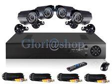 KIT VIDEOSORVEGLIANZA 4 TELECAMERA 24 LED DVR 4 CH VIDEOREGISTRATORE