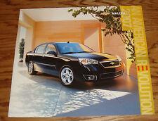 Original 2007 Chevrolet Malibu Deluxe Sales Brochure 07 Chevy