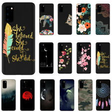 For Samsung S20/S20+ S10 Note10 Lite Black Pattern Soft TPU Silicone Case Cover