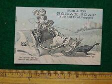 "1870s-80s Bush & Co""s Borax Soap Buggy Goat Peacock#2 Trade Card F17"
