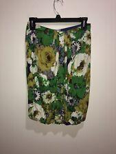 Blumarine Size S/M Silk Floral Tube Top Blouse Shirt See Measurements