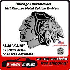 Chicago Blackhawks NHL Chrome Metal Car Auto Emblem Team Decal Logo Ships Fast