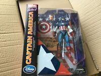 Marvel Select Captain America Figure - New Factory Sealed - Disney