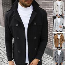 Wintermantel Übergangs Sakko Jacke Coat Stehkragen Classic Herren OZONEE 17131