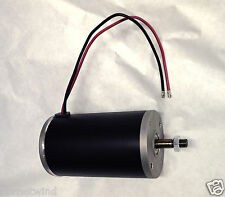 Powerful 1 hp 12 volt electric permanent magnet DC motor / generator 12mm shaft