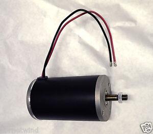 1 hp 90 volt electric permanent magnet DC motor / generator 2999 RPM 12mm shaft