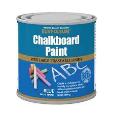 Rust-Oleum Tableau à craie Peinture Bleu MAT 250ml Durable séchage rapide