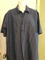 Red Kap Mens Short Sleeve Industrial Work Shirt - Blue XXL