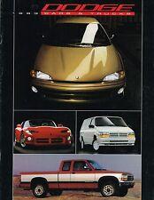 1993 DODGE / Truck Brochure: VIPER,STEALTH,DAYTONA,RAM PickUp,150,DAKOTA,50,4WD,