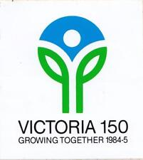 Victoria 150 Growing Together 1984-5 sticker 10cm x 11cm