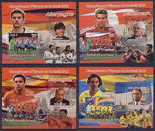 Football Soccer EURO 2012 FIFA National Teams 16 MNH stamp sheets set