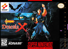 Super Nintendo Snes CASTLEVANIA DRACULA X  Box Cover Fridge Magnet Game Decor
