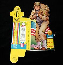 WWII War Stamp Penny Bank 50 cent Buy War Bonds US Army Soldier Figure USA 1942