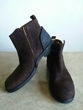 Alberto fermani Woman Boots Dark Brown Suede Leather sz 8