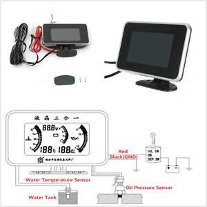 Car Offroad LCD 3 in 1Gauge Oil Pressure+Voltage+Water Temperature Digital Meter