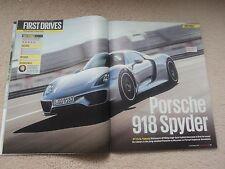 Porsche 918 Spyder (Weissach Pack) 1st Road Test + (AMG) - Autocar Mag. - 2013