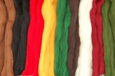 Xmas Merino Wool dyed fibre roving / tops - great for wet & needle felting 50g