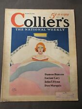 Vintage Colliers Magazine December 10, 1932  Alan Foster cover art