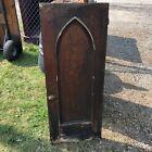 "c1870 gothic style chestnut cabinet door 48"" x 19"" x 1.25"" original varnish"