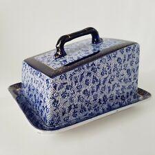Royal Winton Grimwades Blue Chintz Cheese Dish Early 20th Century  :C6