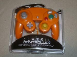 NEW NINTENDO GAMECUBE ORANGE GAME TECH TTX TECHNOLOGY CLASSIC CONTROLLER GAMEPAD