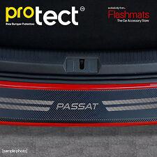 VW Passat B8 Estate Rear Bumper Protector (2014+) Black Carbon Vinyl Protector