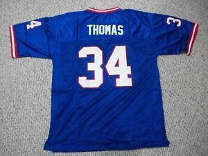 THURMAN THOMAS Unsigned Custom Buffalo Blue Sewn New Football Jersey Sizes S-3XL
