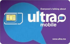 PreLoaded Ultra Mobile SIM Card+$29 Plan 1st Month INCLUDED (5GB FAST DATA)