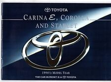 Toyota Starlet Corolla Carina E 1994-95 UK Market Sales Brochure