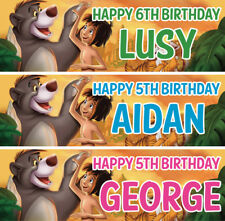 2 x personalised jungle book birthday banner nursery children kid animal party