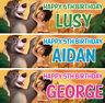 2 x personalised jungle book birthday banner nursery children kid animal party