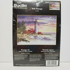 """New listing Bucilla Counted Crosstitch Kit """"Safe Passage"""" #42005 7x5 New/unopened"""
